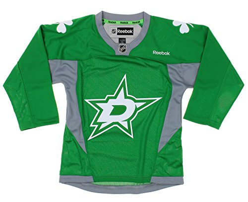 NHL Dallas Stars Youth Boys St. Patrick's Day Green Replica Jersey (Jersey Hockey Stars Dallas)