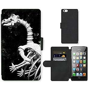 GoGoMobile PU LEATHER case coque housse smartphone Flip bag Cover protection // M00124950 Animal Bones Huesos Criatura Dino // Apple iPhone 5 5S 5G