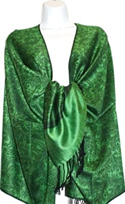 """70"""" X 28"""" Silk Feel Paisley Self-design Shawl / Wrap / Stole - 30+ Beautiful Paisley Designs From the Scarf Shop"""