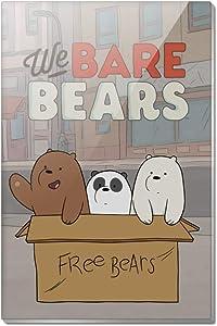 We Bare Bears Baby Bears Rectangle Acrylic Fridge Refrigerator Magnet