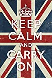 Union Jack - Keep Calm and Carry On (24x36 Collectible Giclee Gallery Print, Wall Decor Travel Poster)