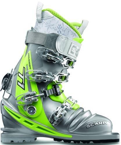 Scarpa T1 Women Telemark Ski Boot, Shark/Lime, Size (Telemark Touring Ski Boots)