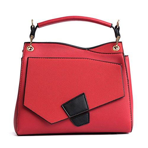 Bolsos de hombro de la mujer,Bolso Golpe de color silvestre top mango crossbody bolsos para niñas-rojo rojo