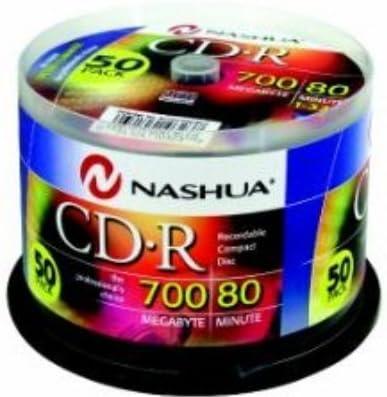 Nashua 50-Pack CD-R, cakebox 80min./700MB, 52x CD-R 700MB 50pieza ...