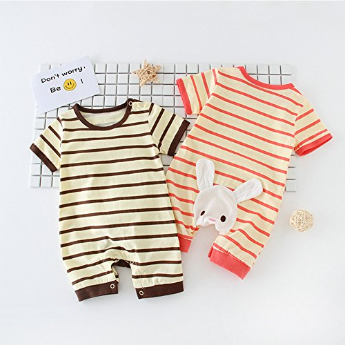 Beide Baby Boys Girls Cotton Short Sleeve Rompers Jumpsuits