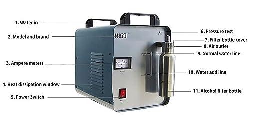 signtigergentle 300 W H160/75L portátil oxígeno hidrógeno generador de llama acrílico pulido máquina: Amazon.es: Oficina y papelería