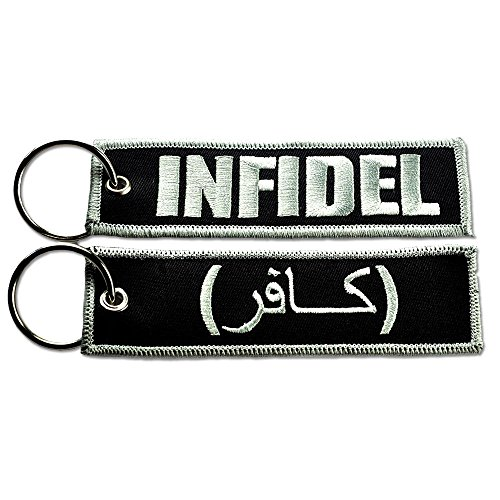INFIDEL NEW TACTICAL EMBROIDERED KEY CHAIN KEY TAG BLK