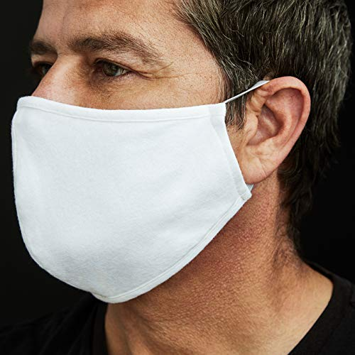 A&J Fashion Reusable Standard White Public Face Mask