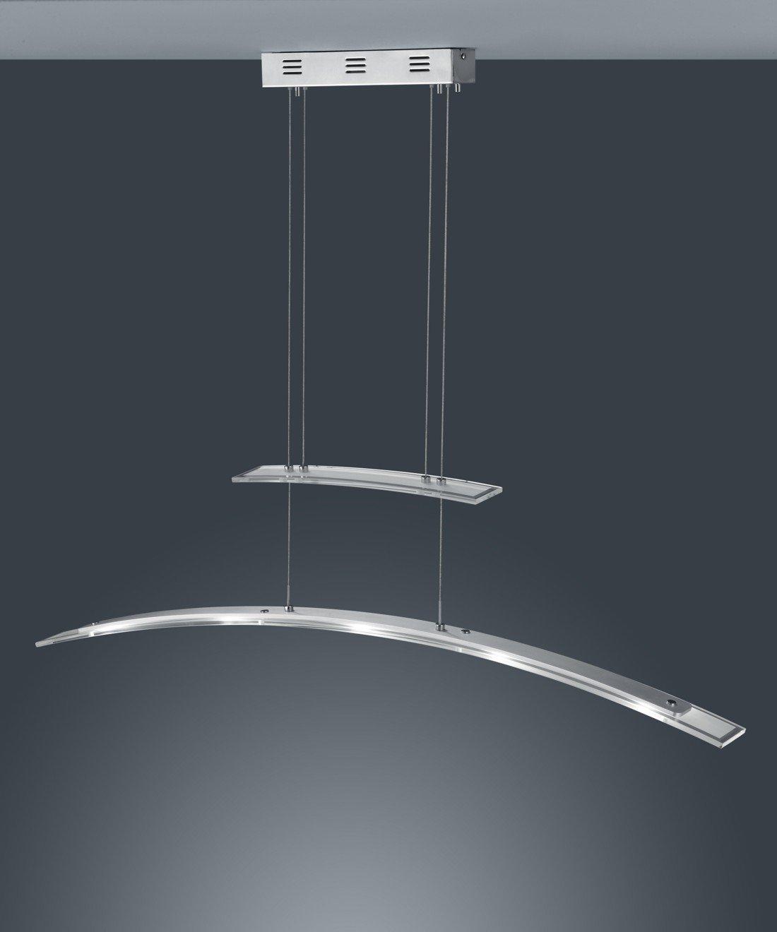 Trio Leuchten LED-JoJo-Pendelleuchte in Chrom/Aluminium, Glas weiß ...