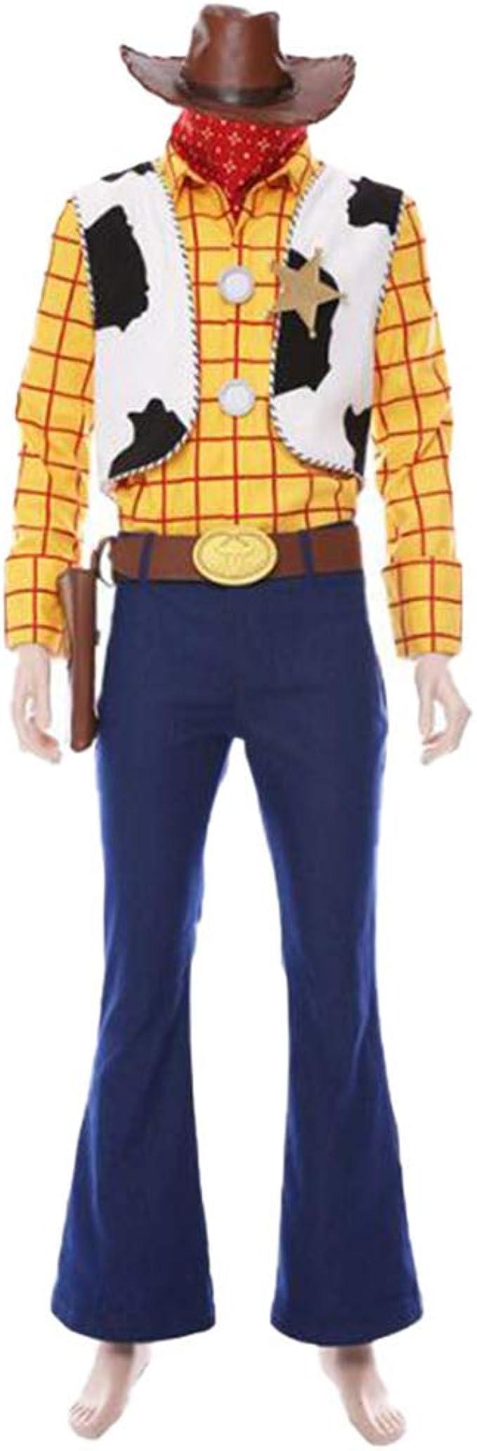 ZXRYF Disfraz De Toy Story Woody Adulto Amarillo, Adecuado Para ...