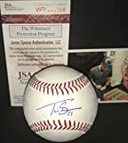 Travis Shaw Milwaukee Brewers Autographed Signed Official Major League Baseball JSA WITNESS COA