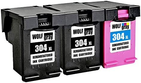 Wolfgray 304XL Remanufacturado para HP 304 XL 304 Cartuchos de tinta (2 negro, 1 tricolor) para HP Deskjet 3720 3730 3732 3700 3735 3733 2620 2630 ...