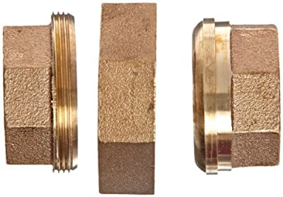 """Anderson Metals 38104 Red Brass Pipe Fitting, Union, 1-1/2"""" Female Pipe"""