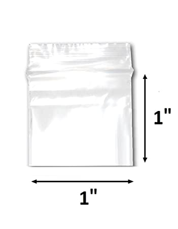 200 Bags of 1 x 1 2 Mil Clear Plastic Reclosable Zip Poly Bags with Resealable Lock Seal Zipper by 888 Display USA