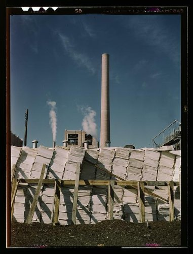 Photo: Southland Paper mill,Kraft,chemical pulp,making newsprint,Lufkin,Texas,TX,1943 1