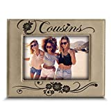 BELLA BUSTA -Cousins-Great Gift for Best Cousin Birthday for Cousin -Engraved Leather Picture