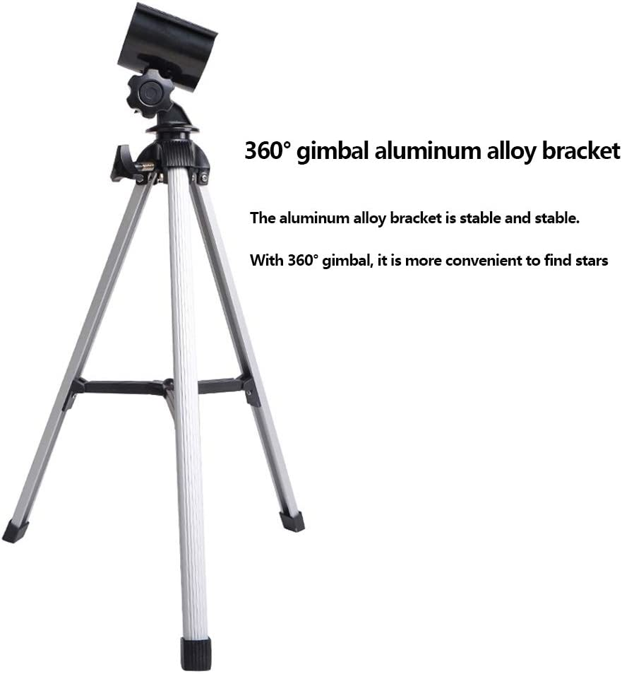 Adjustable Tripod and Telescope 70mm Astronomical Refracting Telescope Childrens Beginner Adult Telescope White Portable Childrens Telescope