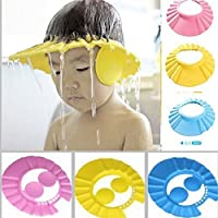 Yupzob New Adjustable Safe Soft Bathing Baby Shower Cap Wash Hair for Children Kitchen Point Baby Eye Ear Protector Adjustable Leaves Shape Bathing Shower/Shamoo Cap Hat Pack