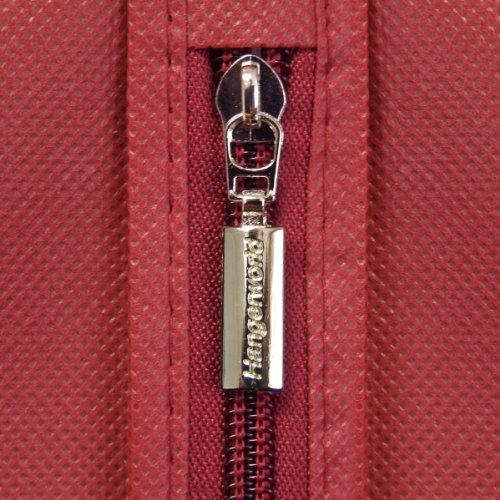 "Hangerworld 72"" Burgundy Breathable Dress Cover Bag - Internal Pocket & 8"" Gusset"