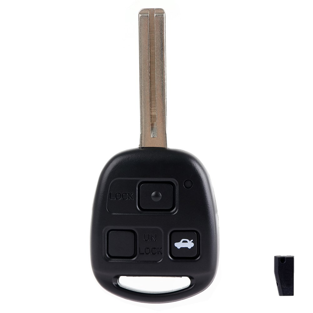 ECCPP Replacement fit for Uncut Keyless Entry Remote Key Fob Lexus LS430// ES330 HYQ12BBT 057238-5211-1730062141 Pack of 1