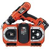 Black & Decker FSD182RC2 18 Volt FireStorm Drill W/Radio Charger