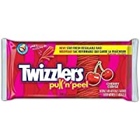 TWIZZLERS Licorice Candy, Cherry Pull N' Peel, Party Pack, 396 Gram