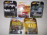 Hot Wheels Retro Entertainment Case F Lot of 5 Cars - Ghostbusters II, BJ and the Bear, Batman Returns, Goldfinger, Back to the Future