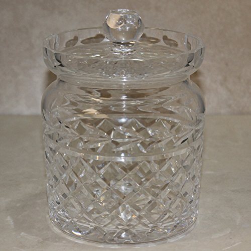 Waterford Crystal Biscuit Barrel with Lid, Glandore Biscuit Barrel with Lid