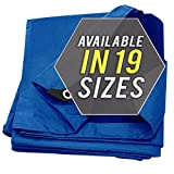 #9: Tarp Cover Blue Waterproof 12x12 Great for Tarpaulin Canopy Tent, Boat, RV Or Pool Cover!!! (Standard Poly Tarp 12'X12')
