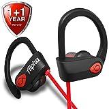 Bluetooth Headphones - Best Wireless Sports Earbuds Workout Earphones w/ Mic - 8 Hour Battery Noise Cancelling Headsets - IPX7 Waterproof