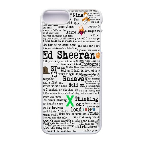 Price comparison product image Apple iphone 7 Plus (5.5 inch) Case, Ed Sheeran X Art Phone Case for Apple iphone 7 Plus (5.5 inch) White Plastic Ultra Slim Cover Case GHST1141457