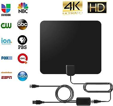 Antena de TV HDABA, 2019, antena de TV digital HD amplificada de 50 a 80 millas