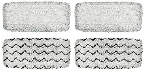 Seelong Washable & Reusable Pads for Bissell 1252 1132 1543 1652 1132M Symphony Hard Floor Vacuum & Steam Mop (Pack of 4)