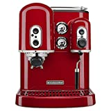 KitchenAid KES2102ER Pro Line Series Espresso Maker with Dual Independent Boilers, Empire Red