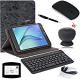 EEEKit 5in1 Office Kit for 8 Inch Tablet,Bluetooth Keyboard Stand Case Cover,Mouse Pad,Stylus ,Wireless Bluetooth Mouse/Suction Cup Waterproof Speaker
