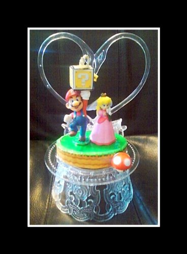 Amazon.com: Nintendo Super MARIO Princess Peach HEART WEDDING CAKE ...