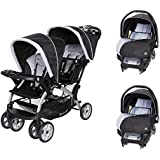 Baby Trend Sit N Stand Tandem Stroller + Car Seats (...