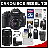 Canon EOS Rebel T3i Digital SLR Camera and 18-55mm IS II and 55-250mm IS Lens with 32GB Card + Backpack + LED Flash + Grip + Battery Kit, Best Gadgets