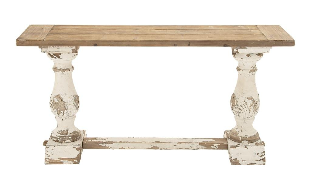 Foyer Table Distressed : Mirror over a rustic console table u cabinets beds sofas and
