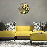 Naanle Stylish 3D Beautiful Sunflowers Vintage Wood
