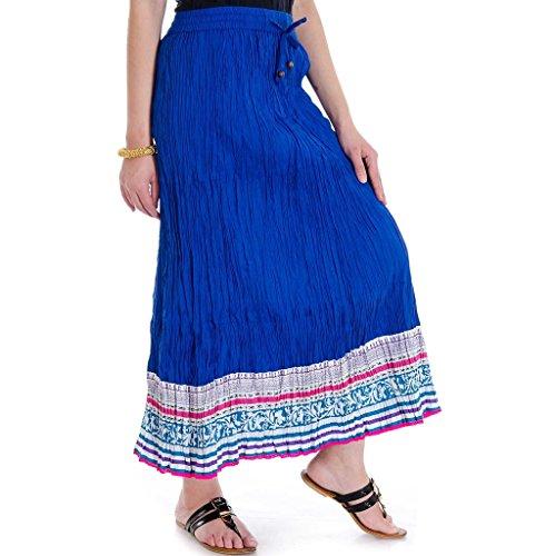 Printed Jaipuri Royal Blue Wome's Skirt