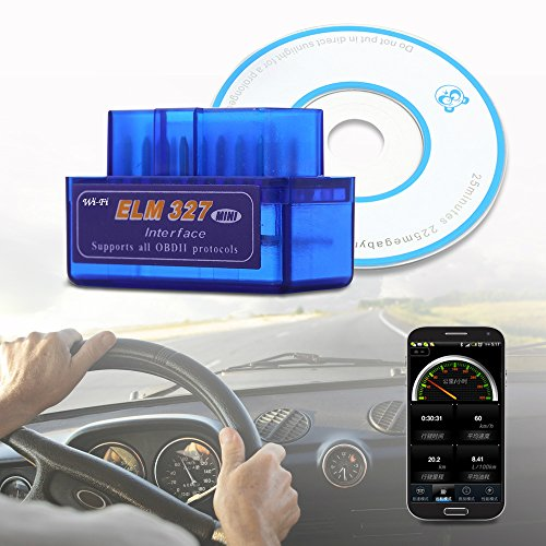 WiFi OBD-II ODB2 ELM327 Car Diagnostics Tool for Apple iPad iPhone iPod Touch PC IOS Andorid Phone , Blue