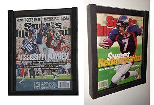 (PACK of 2 Magazine Display Cases Frames for 1990-CURRENT issues of Sports Illustrated or Comic Book)