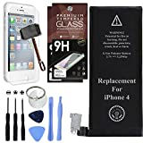 Cell Phone DIY Battery Replacement for iPhone 4, Complete Repair Kit with Tools