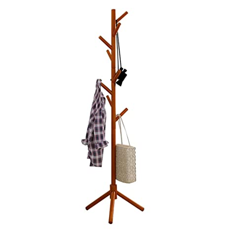 Amazon.com: Coat RACK - Perchero de madera maciza para el ...