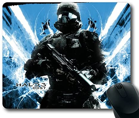Halo-3-Odst-Sticky-Grenade Game Theme Mouse Pad, Rectangle Mousepad