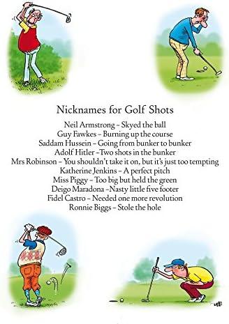 Photos De Golf Humour Carte De Vœux Joyeux Anniversaire Amazon Fr Fournitures De Bureau