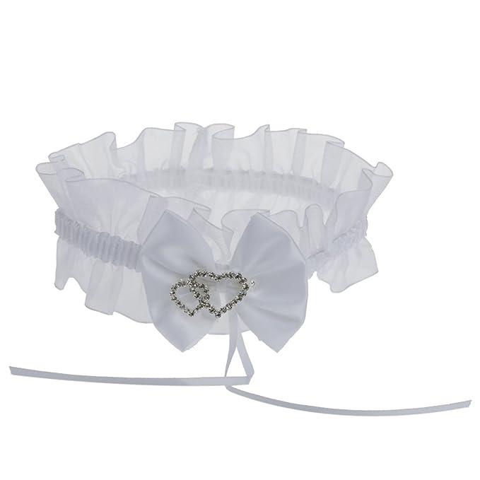 new product 08055 5bb35 Prom Braut Strumpfband Liebe Herz Strass Strumpfband Bowknot ...