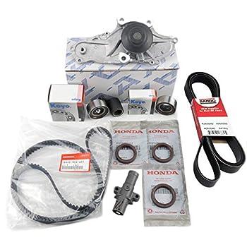 Image of Timing Belt Kits TIMING BELT KIT | Water Pump T-belt Kit | Camshaft Crankshaft Seal | (As in photo) GENUINE/OEM Fit select Honda, Acura vehicles.