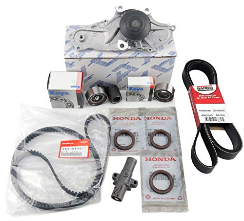 Kit Pump Shaft - TIMING BELT KIT | Water Pump T-belt Kit | Camshaft Crankshaft Seal | (As in photo) GENUINE/OEM Fit select Honda, Acura vehicles.